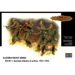 *Eastern Front Series. Kit № 1. German Infantry in action, 1941-1942* - Scale 1/35 - Masterbox - MBLTD3522