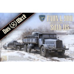 FAUN L 900 plus Sd.Ah.115 10t low bed trailer - Scale 1/35 - Das Werk - DW35003