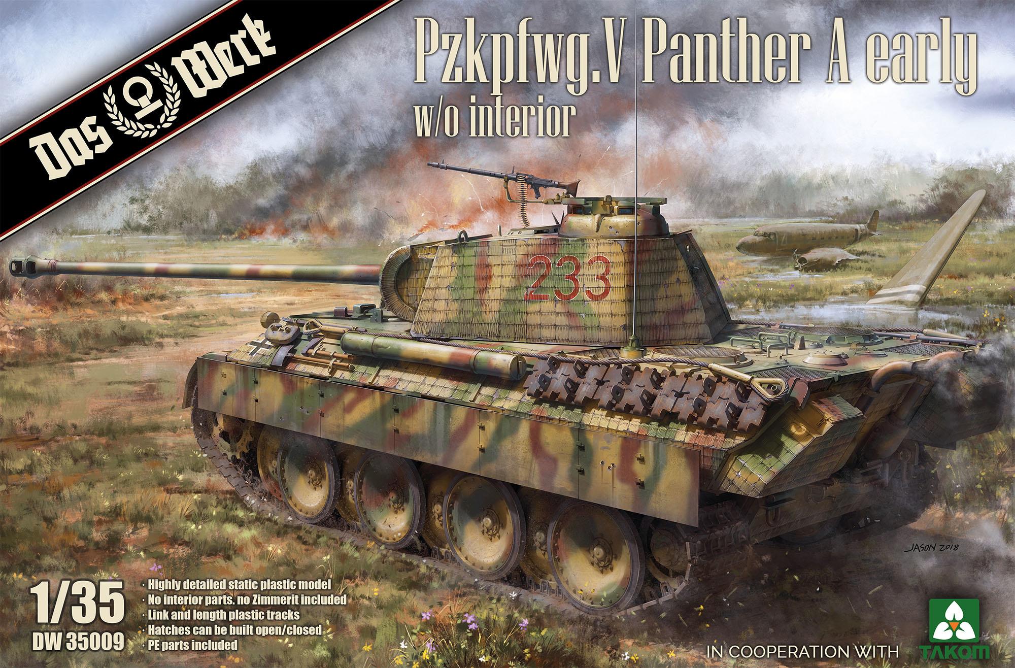 Das Werk Pzkpfwg. V Panther A early - Scale 1/35 - Das Werk - DW35009