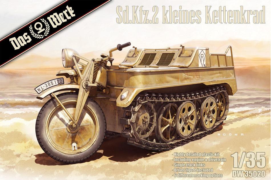 Das Werk Sd.Kfz.2 kleines Kettenkrad - Scale 1/35 - Das Werk - DW35020