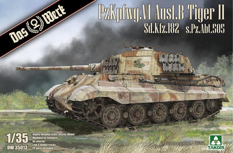 Das Werk PzKpfwg.VI Ausf.B Tiger II Sd.Kfz.182 - Scale 1/35 - Das Werk - DW35013