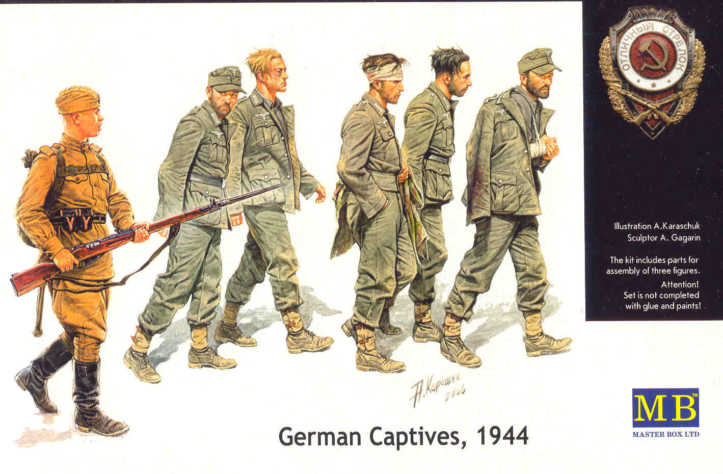 Masterbox *German Captives, 1944* - Scale 1/35 - Masterbox - MBLTD3517