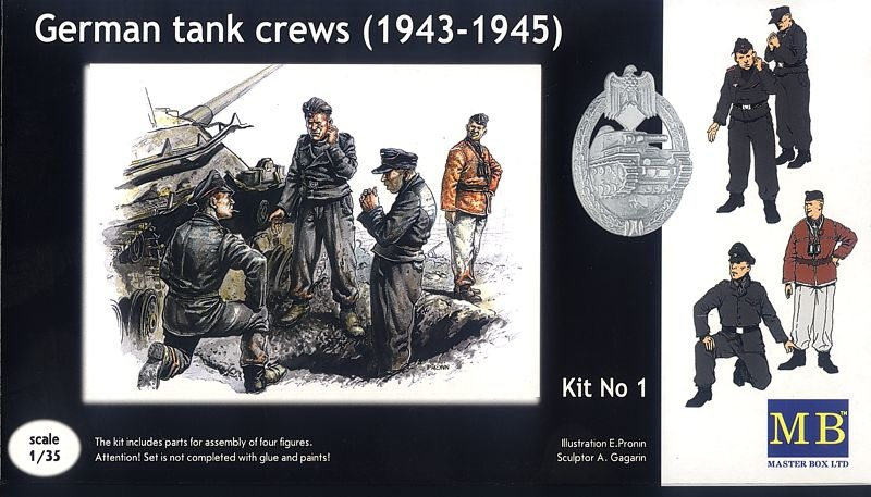Masterbox *German tank crew (1943-1945) Kit No1* - Scale 1/35 - Masterbox - MBLTD3507