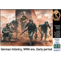 *German Infantry, WWII era. Early period* - Scale 1/35 - Masterbox - MBLTD35177