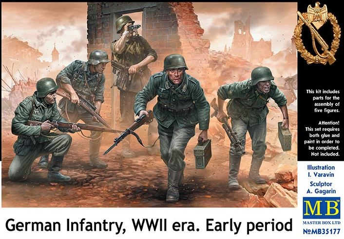 Masterbox *German Infantry, WWII era. Early period* - Scale 1/35 - Masterbox - MBLTD35177