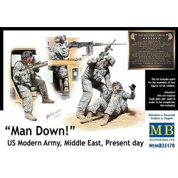 *Man Down! US Modern Army, Middle East, Present day* - Scale 1/35 - Masterbox - MBLTD35170
