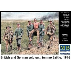 *British and German soldiers, Somme Battle, 1916* - Scale 1/35 - Masterbox - MBLTD35158