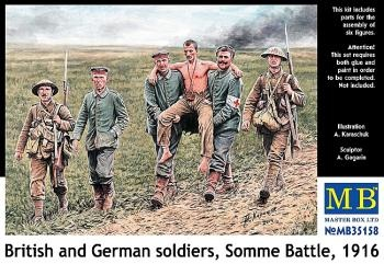 Masterbox *British and German soldiers, Somme Battle, 1916* - Scale 1/35 - Masterbox - MBLTD35158