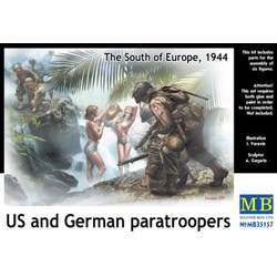 *US and German paratroopers, the South of Europe, 1944* - Scale 1/35 - Masterbox - MBLTD35157