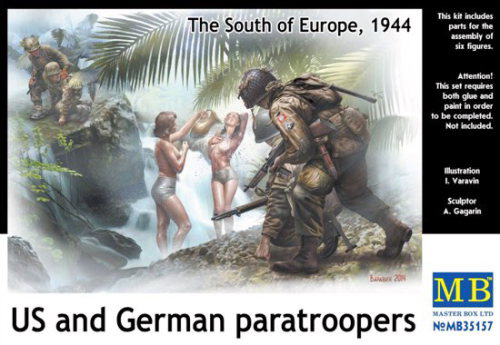 Masterbox *US and German paratroopers, the South of Europe, 1944* - Scale 1/35 - Masterbox - MBLTD35157