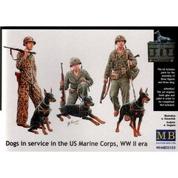 *Dogs in service in the US Marine Corps, WW II era* - Scale 1/35 - Masterbox - MBLTD35155
