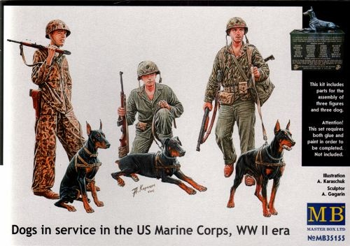 Masterbox *Dogs in service in the US Marine Corps, WW II era* - Scale 1/35 - Masterbox - MBLTD35155