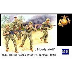 *Bloody Atoll series. Kit No 2*, U.S. Marine Corps Infantry, Tarawa, November 1943* - Scale 1/35 - Masterbox - MBLTD3543