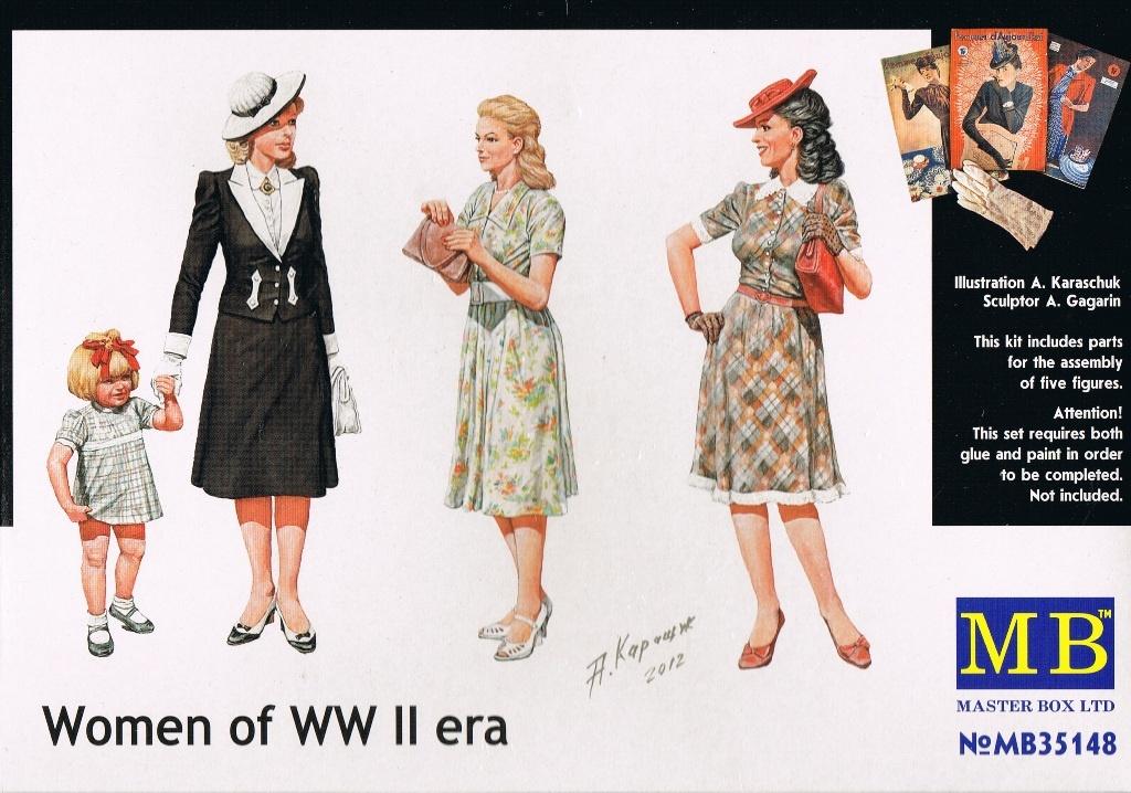 Masterbox *Women of WWII era* - Scale 1/35 - Masterbox - MBLTD35148