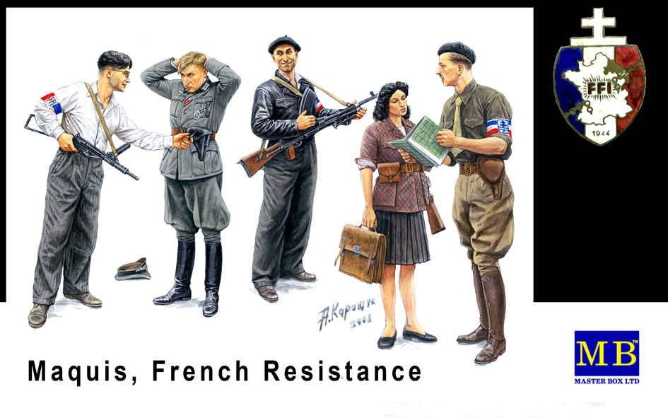 Masterbox *Maquis, French Resistance* - Scale 1/35 - Masterbox - MBLTD3551