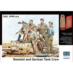 *Rommel and German Tank Crew, DAK, WW II era* - Scale 1/35 - Masterbox - MBLTD3561