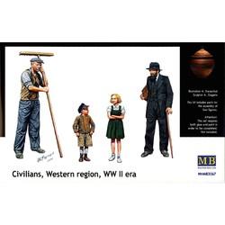 *Civilians, Western region, WW II era* - Scale 1/35 - Masterbox - MBLTD3567