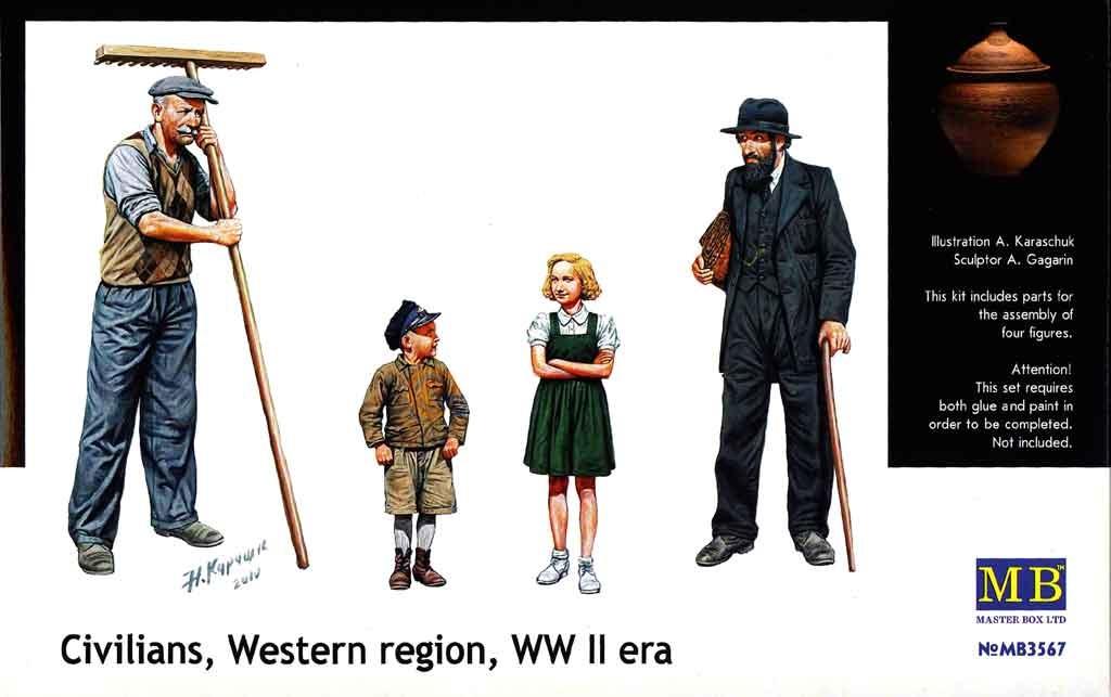 Masterbox *Civilians, Western region, WW II era* - Scale 1/35 - Masterbox - MBLTD3567