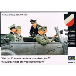 *Fräulein, what are you doing today? German military men, WW II era* - Scale 1/35 - Masterbox - MBLTD3570