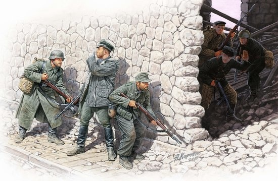Masterbox *Who's that?*, German Mountain Troops & Soviet Marines, spring 1943* - Scale 1/35 - Masterbox - MBLTD3571