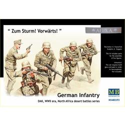 *German Infantry, DAK, WWII, North Africa desert battles series, Kit N 3* - Scale 1/35 - Masterbox - MBLTD3593