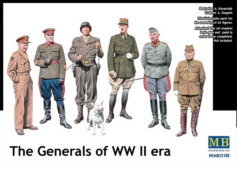 Masterbox *The Generals of WW II era* - Scale 1/35 - Masterbox - MBLTD35108