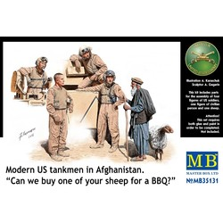 *Modern US tankmen in Afghanistan. *Can we buy one of your sheep for a BBQ?* - Scale 1/35 - Masterbox - MBLTD35131