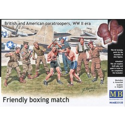 Friendly Boxing Match. British and American Paratroopers, WWII Era - Scale 1/35 - Masterbox - MBLTD35150