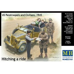 Hitching A Ride US Paratroopers And Civilians - Scale 1/35 - Masterbox - MBLTD35161