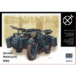 German Motorcycle WWII (incl PE Parts) - Scale 1/35 - Masterbox - MBLTD3528F