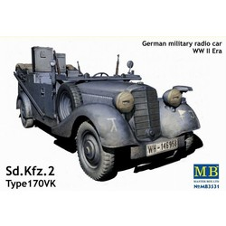 Sd. Kfz.2 170 VK, German Military Radio Car WWII Era - Scale 1/35 - Masterbox - MBLTD3531