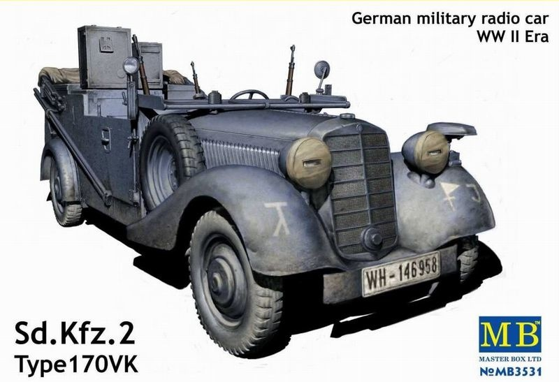 Masterbox Sd. Kfz.2 170 VK, German Military Radio Car WWII Era - Scale 1/35 - Masterbox - MBLTD3531