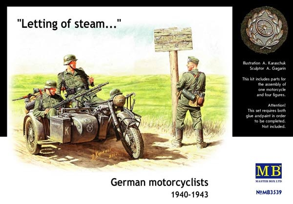 Masterbox German Motorcyclists 1940 - 1943 - Scale 1/35 - Masterbox - MBLTD3539
