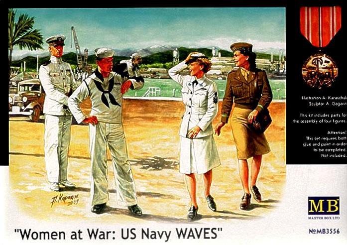 Masterbox Women At War, US Navy WAVES - Scale 1/35 - Masterbox - MBLTD3556