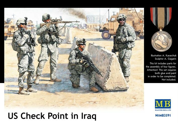 Masterbox US Check Point in Iraq - Scale 1/35 - Masterbox - MBLTD3591