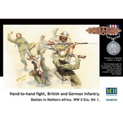 Hand to Hand Fight Britisch and German Infantry Northern Africa Kit 1 - Scale 1/35 - Masterbox - MBLTD3592