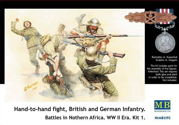 Masterbox Hand to Hand Fight Britisch and German Infantry Northern Africa Kit 1 - Scale 1/35 - Masterbox - MBLTD3592