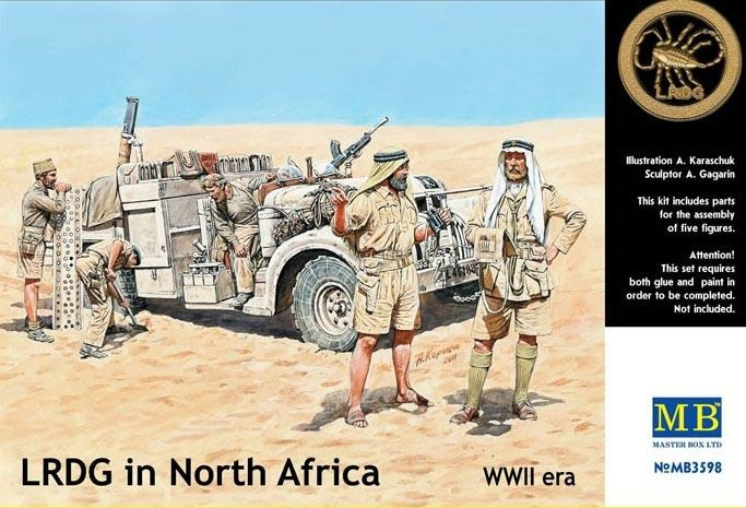 Masterbox LRDG In North Africa, WWII - Scale 1/35 - Masterbox - MBLTD3598