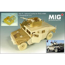 M1114 HUMVEE w/ Shielded MG Cupola - Scale 1/35 - Mig Productions - MIG35-269
