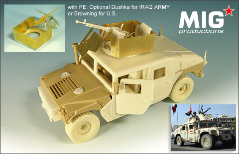 Mig Productions M1114 HUMVEE w/ Shielded MG Cupola - Scale 1/35 - Mig Productions - MIG35-269