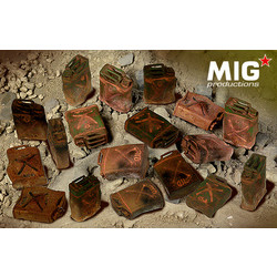 Burnt Out US Jerry Cans - Scale 1/35 - Mig Productions - MIG35-371
