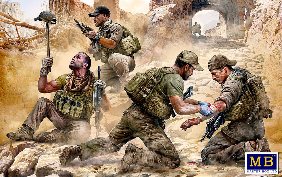 Masterbox *Danger Close*. Special Operations Team, Present Day - Scale 1/35 - Masterbox - MBLTD35207