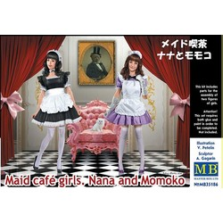 *Maid café girls. Nana and Momoko* - Scale 1/35 - Masterbox - MBLTD35186