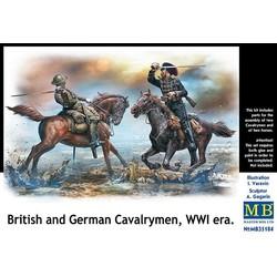 *British and German Cavalrymen, WWI era* - Scale 1/35 - Masterbox - MBLTD35184