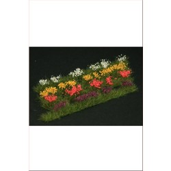 Strips of wild flowers, 4 colours red, violet, white, yellow - Reality in Scale - RIS GL301