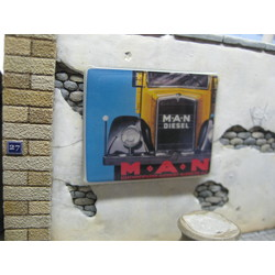 "Real Enamel Sign ""MAN"" - 39x49mm - Reality in Scale - RIS SIGN07"