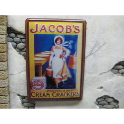 """Real Enamel Sign """"Jacob's"""" - 49x34mm - Reality in Scale - RIS SIGN08"""