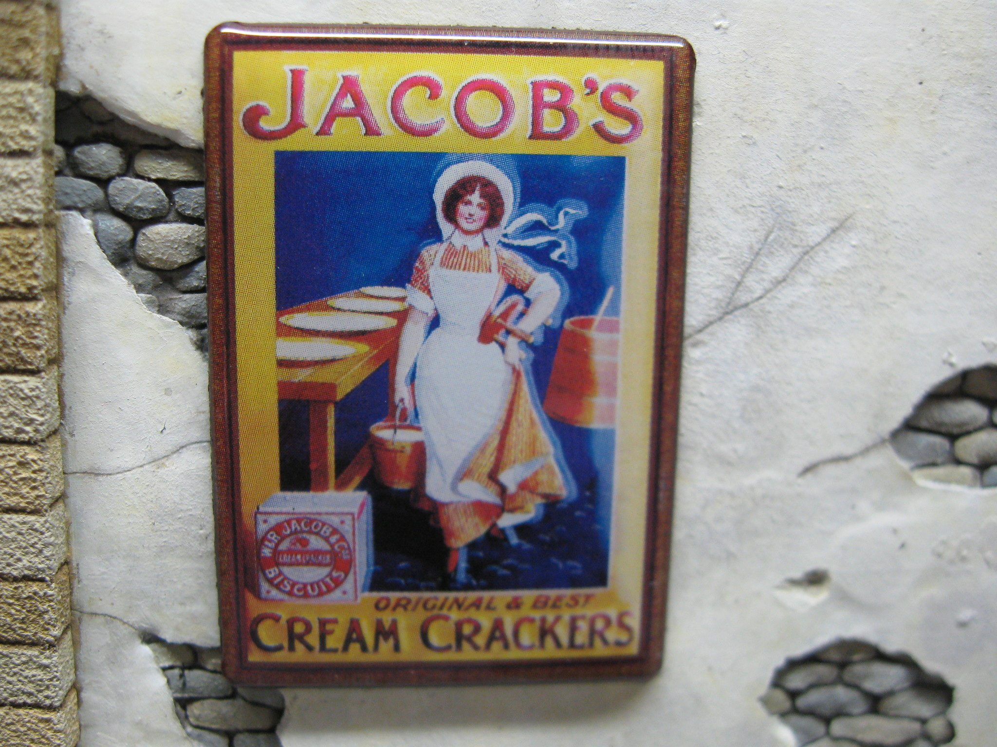 """Reality in Scale Real Enamel Sign """"Jacob's"""" - 49x34mm - Reality in Scale - RIS SIGN08"""