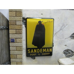 """Real Enamel Sign """"Sandeman"""" - 49x34mm - Reality in Scale - RIS SIGN04"""
