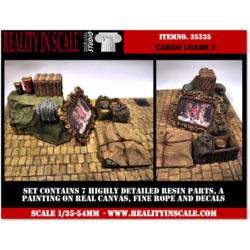 Cargo Loads Set 3 - 7 resin pcs. decals, rope & painting - Reality in Scale - RIS 35235